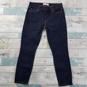 GAP True Skinny Mid Rise Dark Wash Petite Jeans